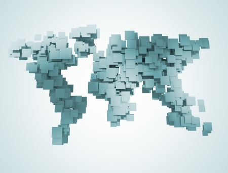Abstract digital world map  photo
