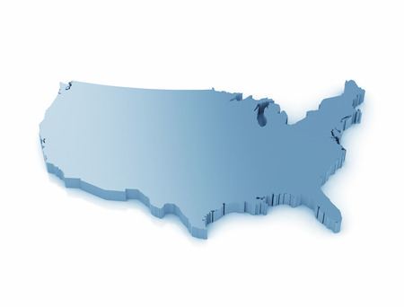 3D Map Of The United States Of America Stock Photo Picture And