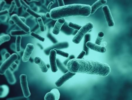 Illustratie van bacteriecellen Stockfoto