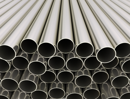 Close up image of metal tubes  photo