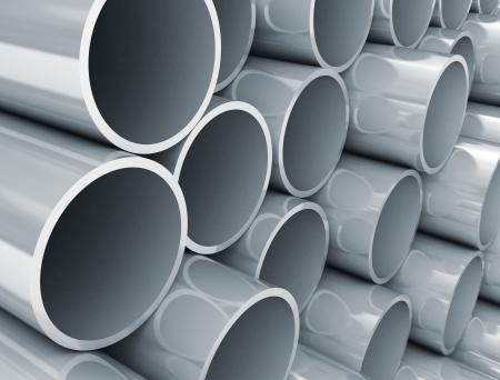 Plastic tubes close up photo