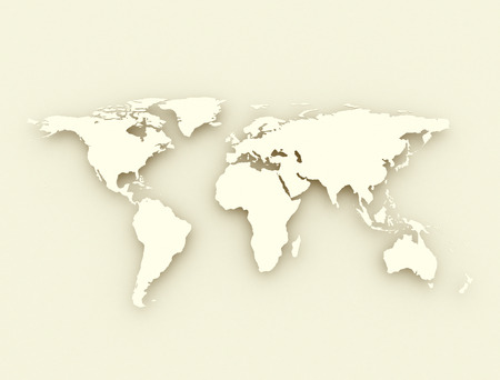 World map antique style illustration
