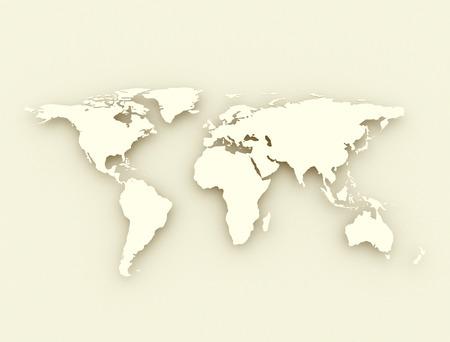 World map antique style illustration illustration