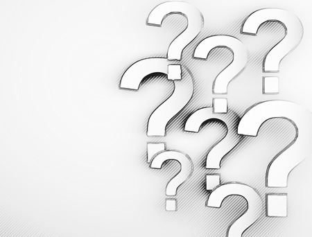 inquiring: Question marks  Stock Photo