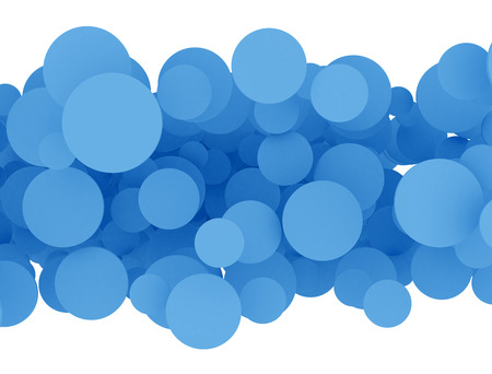 Abstract 3d blue design circles