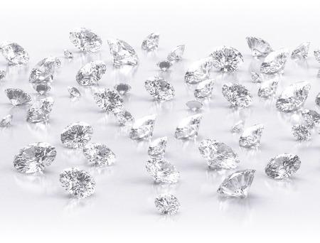 diamonds large group on white background