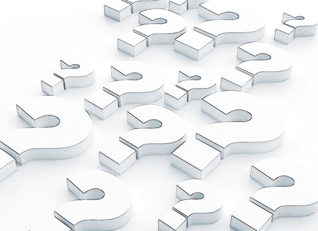 Many question marks 3d illustration Stock Photo