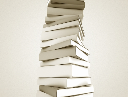 Books stacked in a spiral shape large resolution image  photo