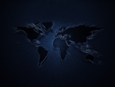 south east asia: 3D world map