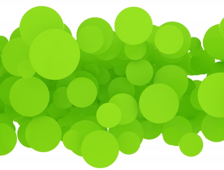 Abstract green circles on white background  photo