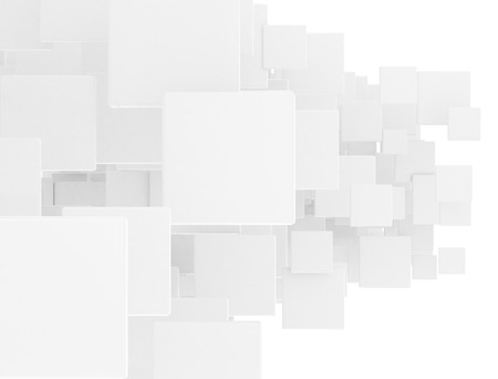 overlapped: Overlapped 3d white squares Stock Photo