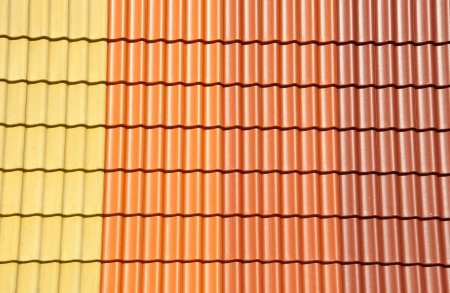 Roof tiles different colors  photo