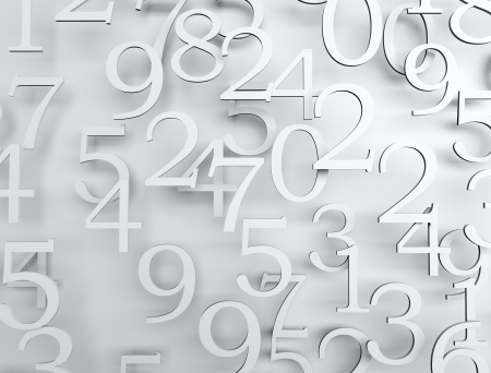 numeration: Numbers high detailes 3d render