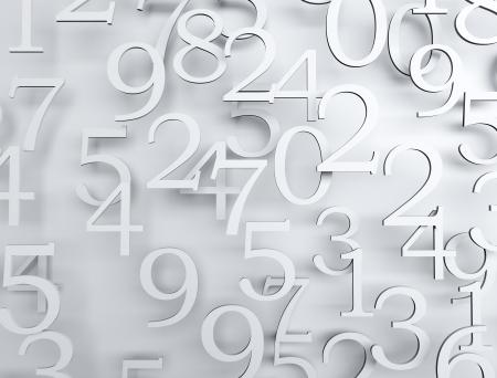 Zahlen hoch detailes 3d render Standard-Bild - 24141844