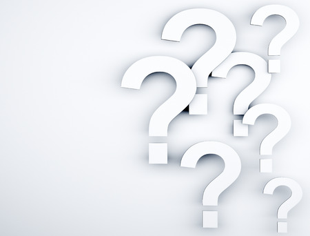 punctuation mark: Question marks  Stock Photo