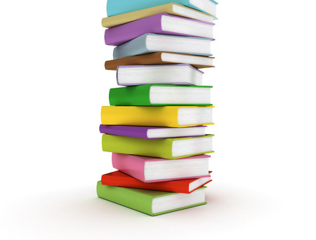 Stacked colouful books Stock Photo - 24141760