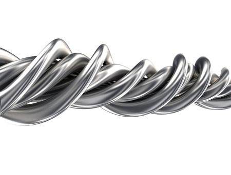 steel wire: Abstract Metal Shape Isolated On White  Stock Photo
