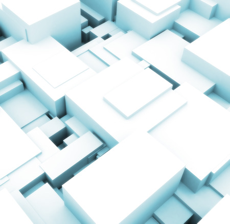 infinitely: 3d building cubes bright lights  Stock Photo
