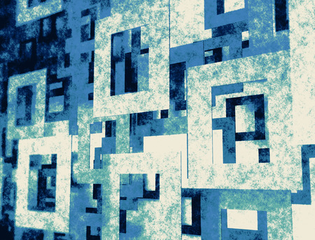 earthy: Different geometric square and rectangle textured patterns Stock Photo