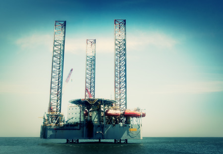 Oil rig off shore  photo
