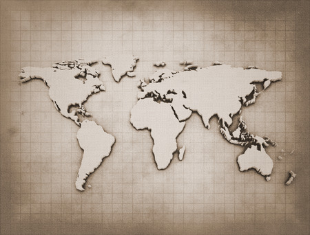 Old world map  photo