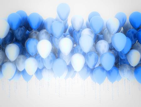 Blaue und weiße Luftballons Standard-Bild