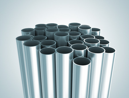 Metal tubes industrial background  photo
