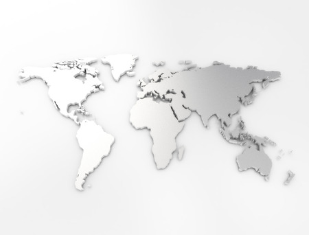 cartina del mondo: Mondo texture mappa d'argento Archivio Fotografico
