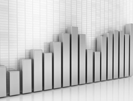 Financial graph 3d illustration illustration