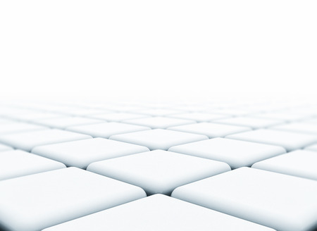 infinitely: DIgital abstract 3d cubes with shallow depth of field Stock Photo