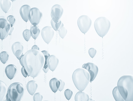 Balloons background photo