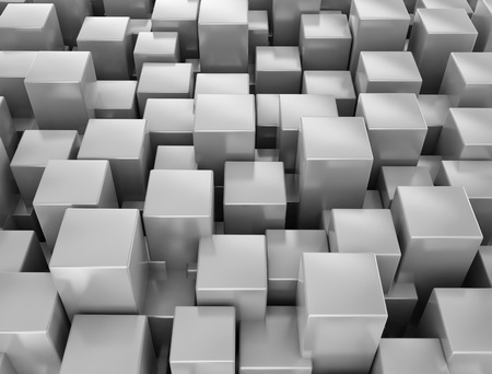 Abstract metallic 3d cubes background photo
