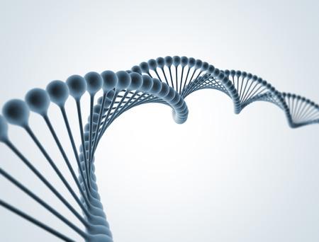 DNA geïsoleerd op wit
