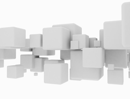 Abstract geometric shape 3d cubes photo