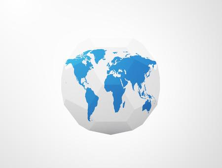 polygonal world sphere photo