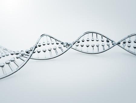 Glasd model van een dubbele helix dna sstrand