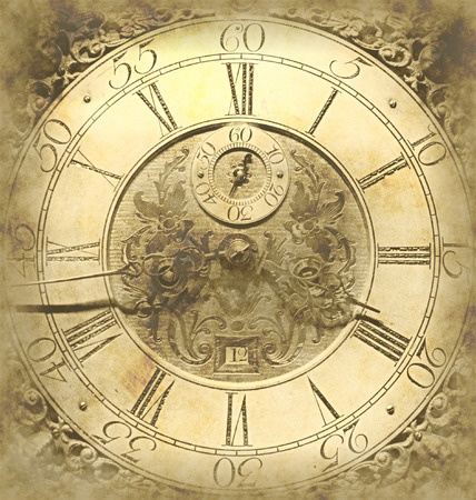 Oude klok achtergrond Stockfoto - 31817173