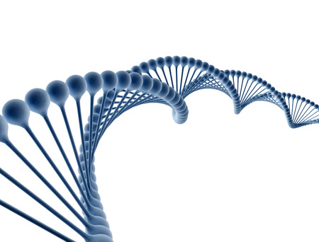 dna test: DNA isolated on white