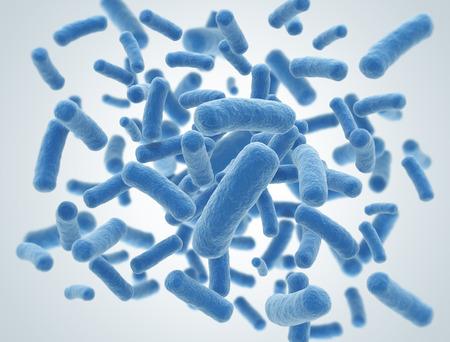 Bacteriën cellen wetenschap 3d illustratie Stockfoto
