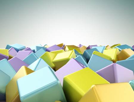 Colourful 3d cubes background photo