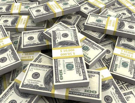 jack pot: Money background big pile of cash close up