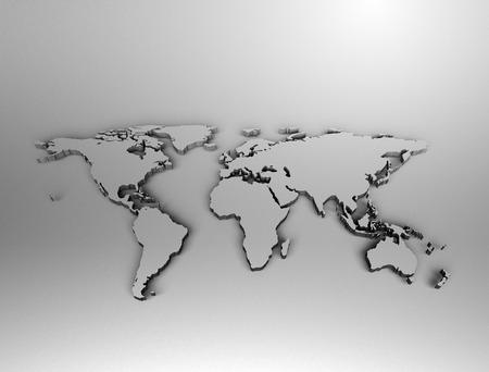 europa: metallic world map Stock Photo
