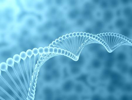 Hoge resolutie 3D render van menselijk DNA-streng Stockfoto