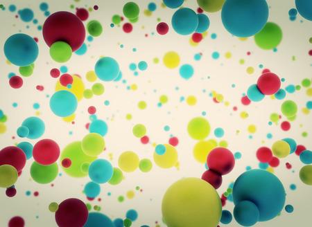 multi: Multi color balls on white background