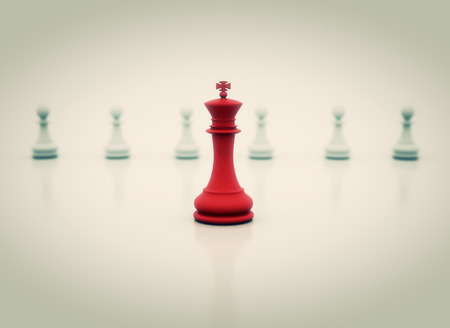 succes: Succes in business - chess King in front