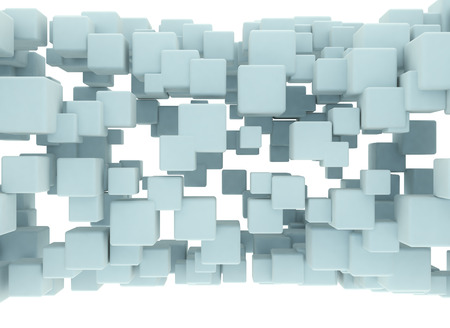 perspectives: Abstract 3d cubes isolated on white