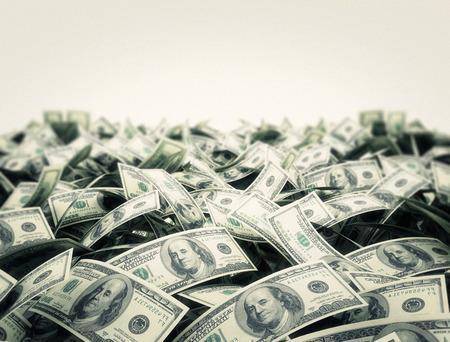Pieniądze z białym tle kopii obszaru przestrzeni