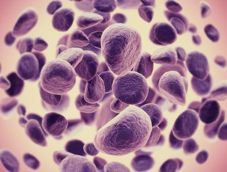 celulas humanas: Las c�lulas cancerosas se extienden Foto de archivo