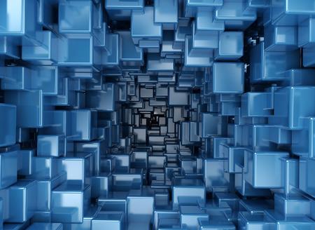 Blauwe abstracte 3d achtergrond Stockfoto