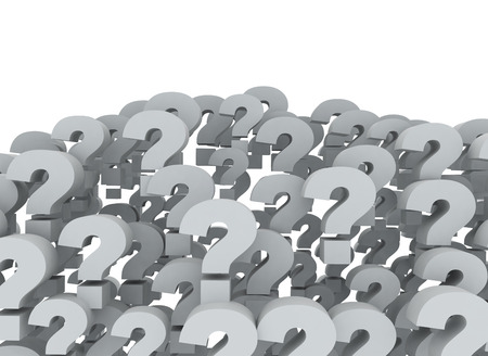 Signos de interrogación de fondo 3d